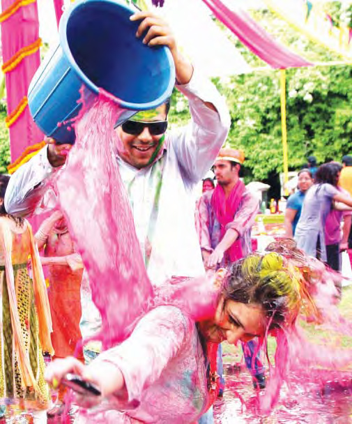 Festival Of Colours, Water, Sticks & Swords
