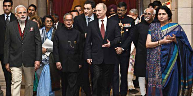 Indo-Russia Equations Modi Waiks the diplomatic Tightrope