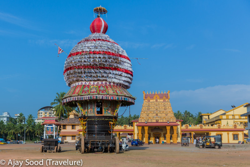 The rath and the temple of the local deity