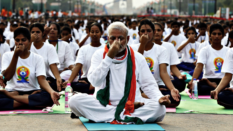 INTERNATIONAL YOGA DAY BENDING IT LIKE THE INDIANS ...