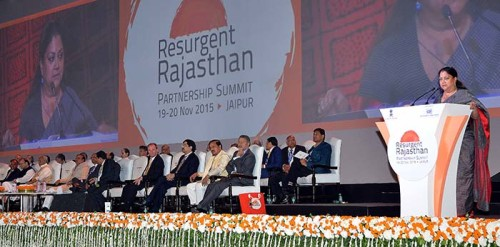 RESURGENT RAJASTHAN PARTNERSHIP SUMMIT 2015 AN IDEAL INVESTMENT DESTINATION