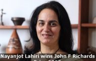 INDIA'S EMINENT HISTORY WRITER WINS AMERICAN HISTORICAL ASSOCIATION'S 2016 JOHN F. RICHARDS PRIZE