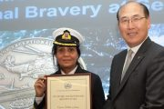 INDIAN FEMALE MARINER CONFERRED WITH THE GLOBAL MARITIME AWARD
