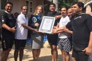 NRI's team smashed the Guinness record for longest underwater human chain