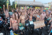 Indian Origin Woman Took Part in the World Naked Bike Ride